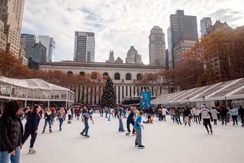 Bryant Park Ice Skating New York Winter